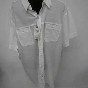 Izod Saltwater Casual Button Down NWT